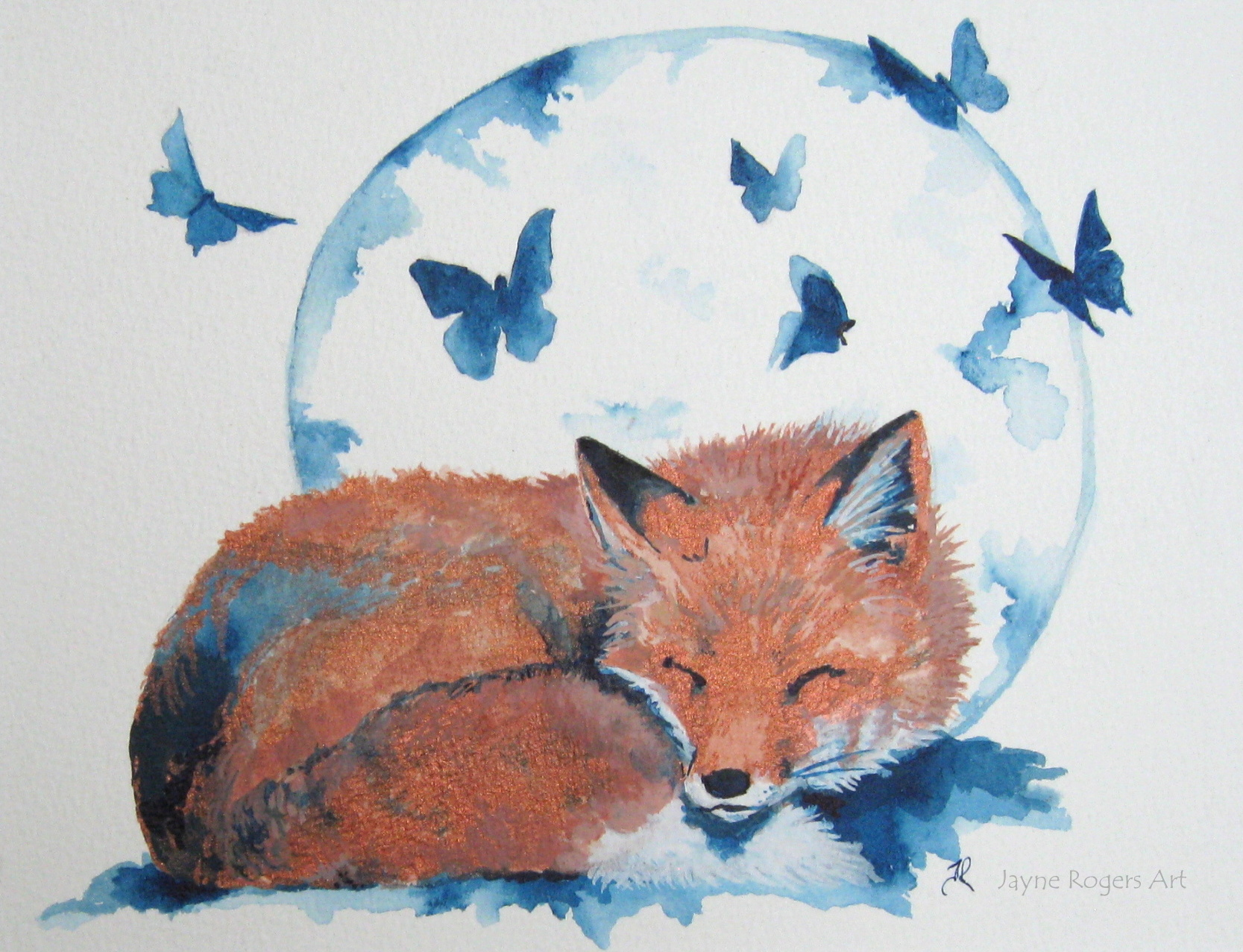 Luna Fox Painting.