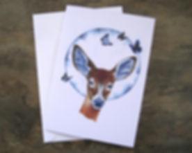 Animal art card print.