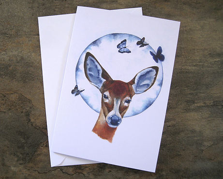 Animal art card print.