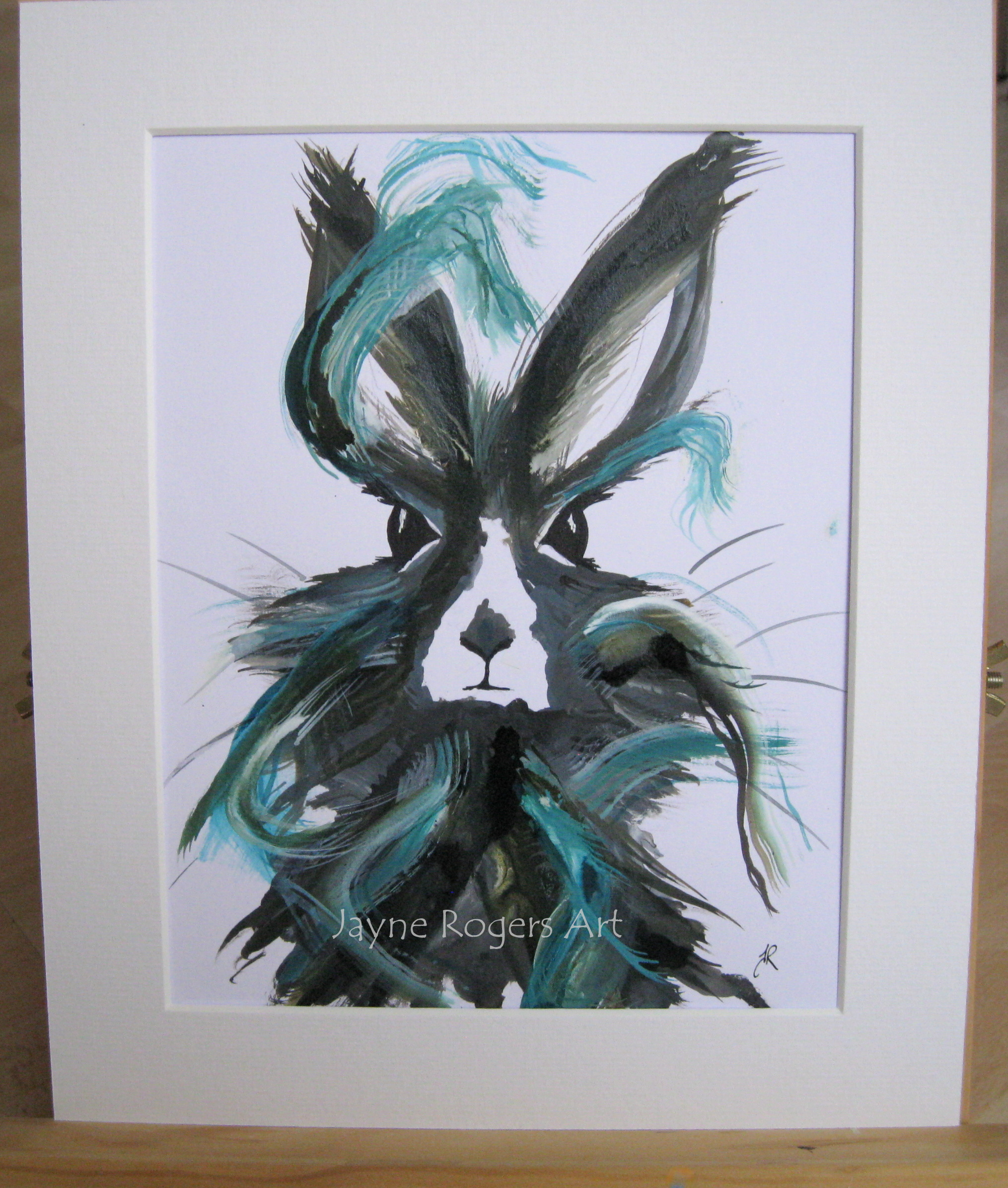 Wild Hare Painting.