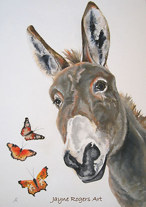 Donkey painting commission.