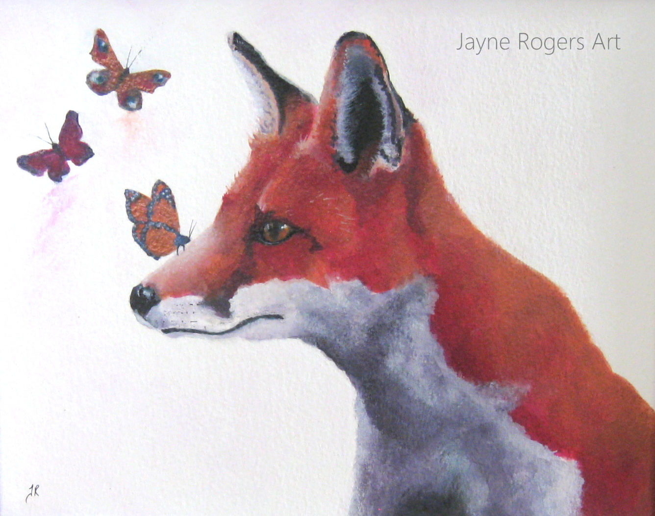 Fox Butterfly Painting.