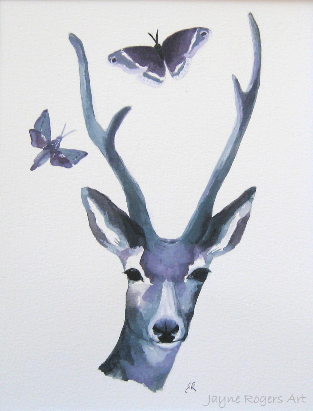Deer of Night Painting.