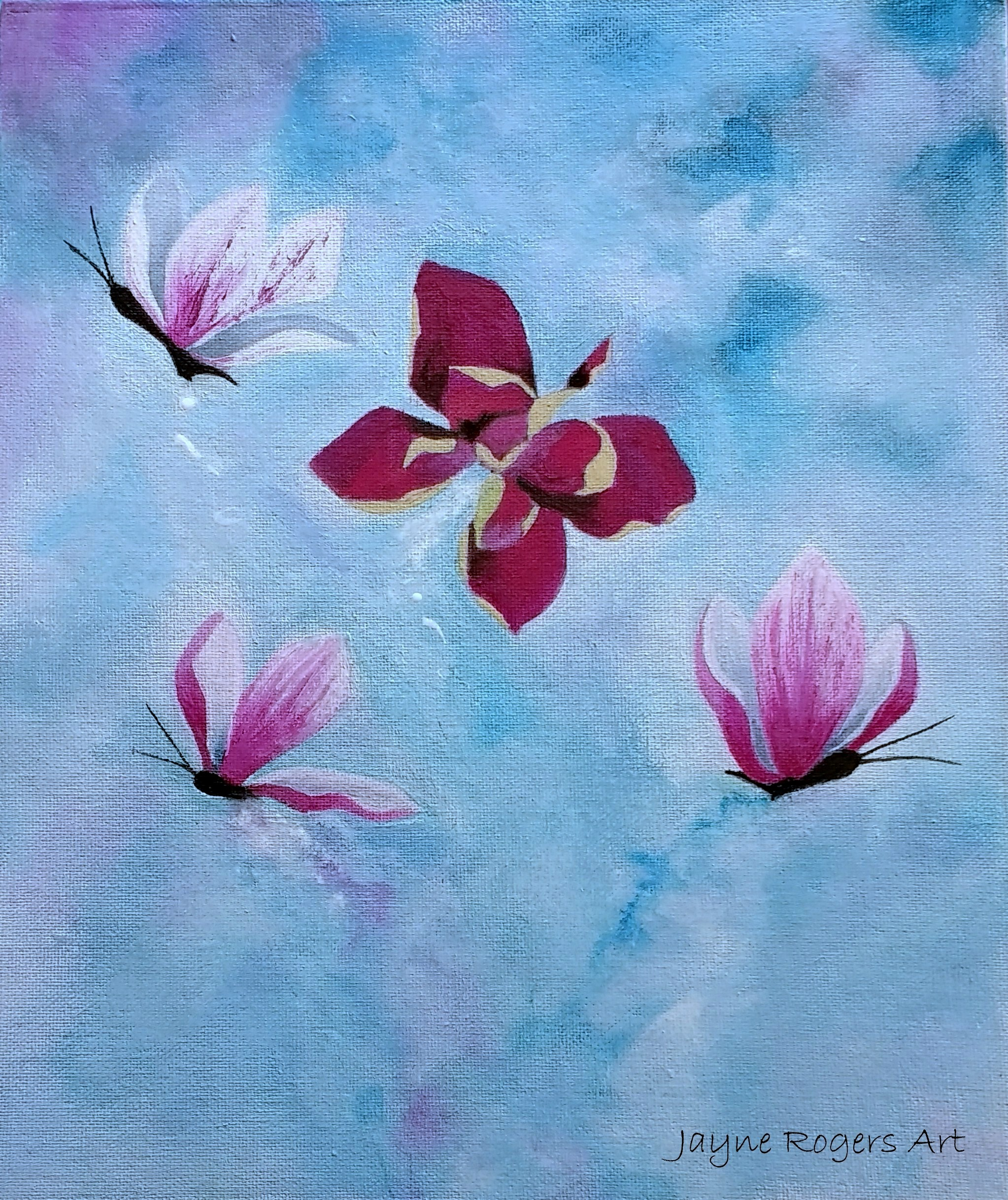 Flower Butterfly Painting.