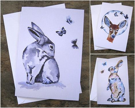 Blank Card Pack Animal Art.