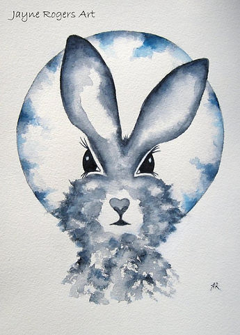 Mischief Moon Hare Painting.