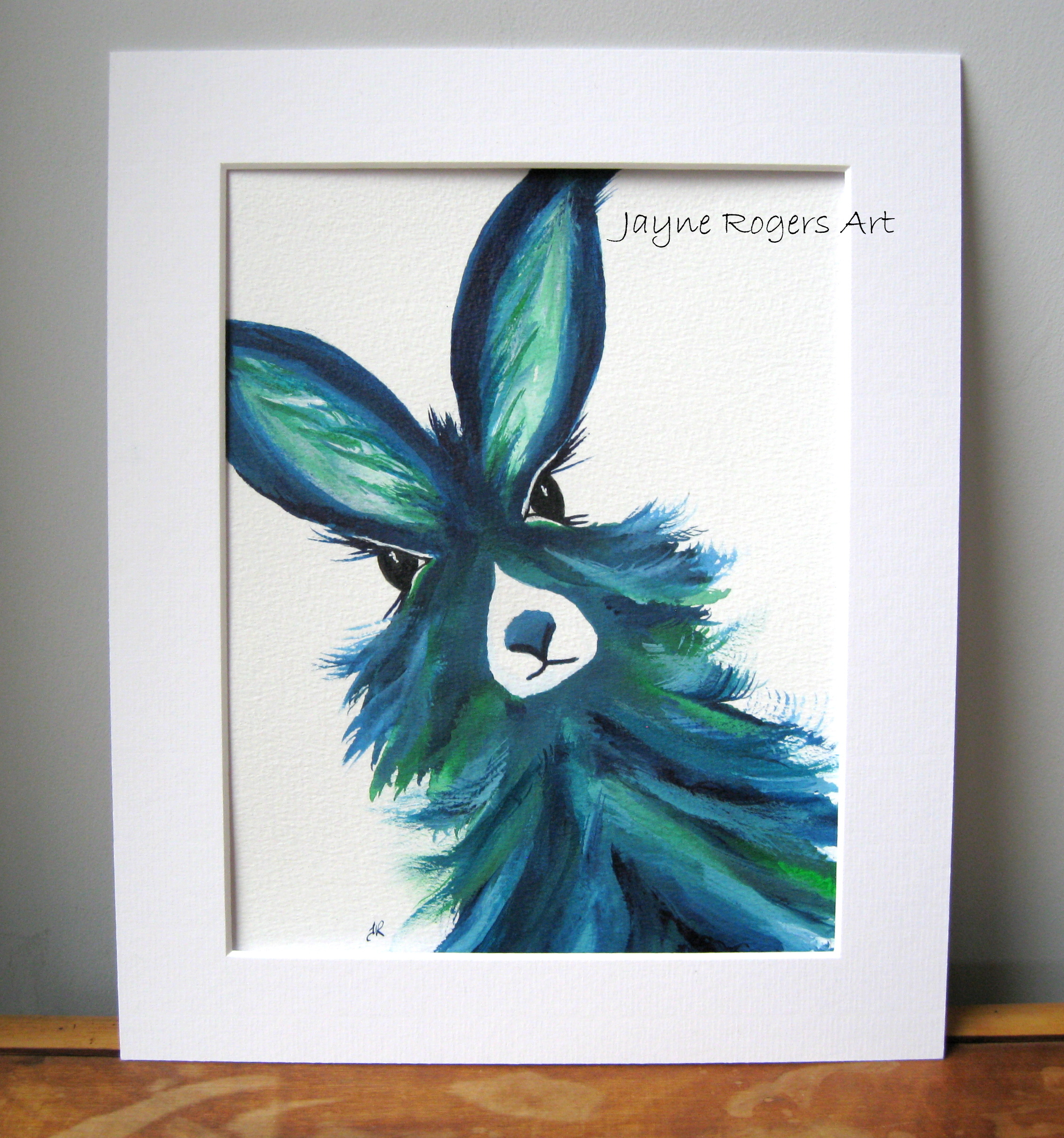 Emerald Hare Painting.