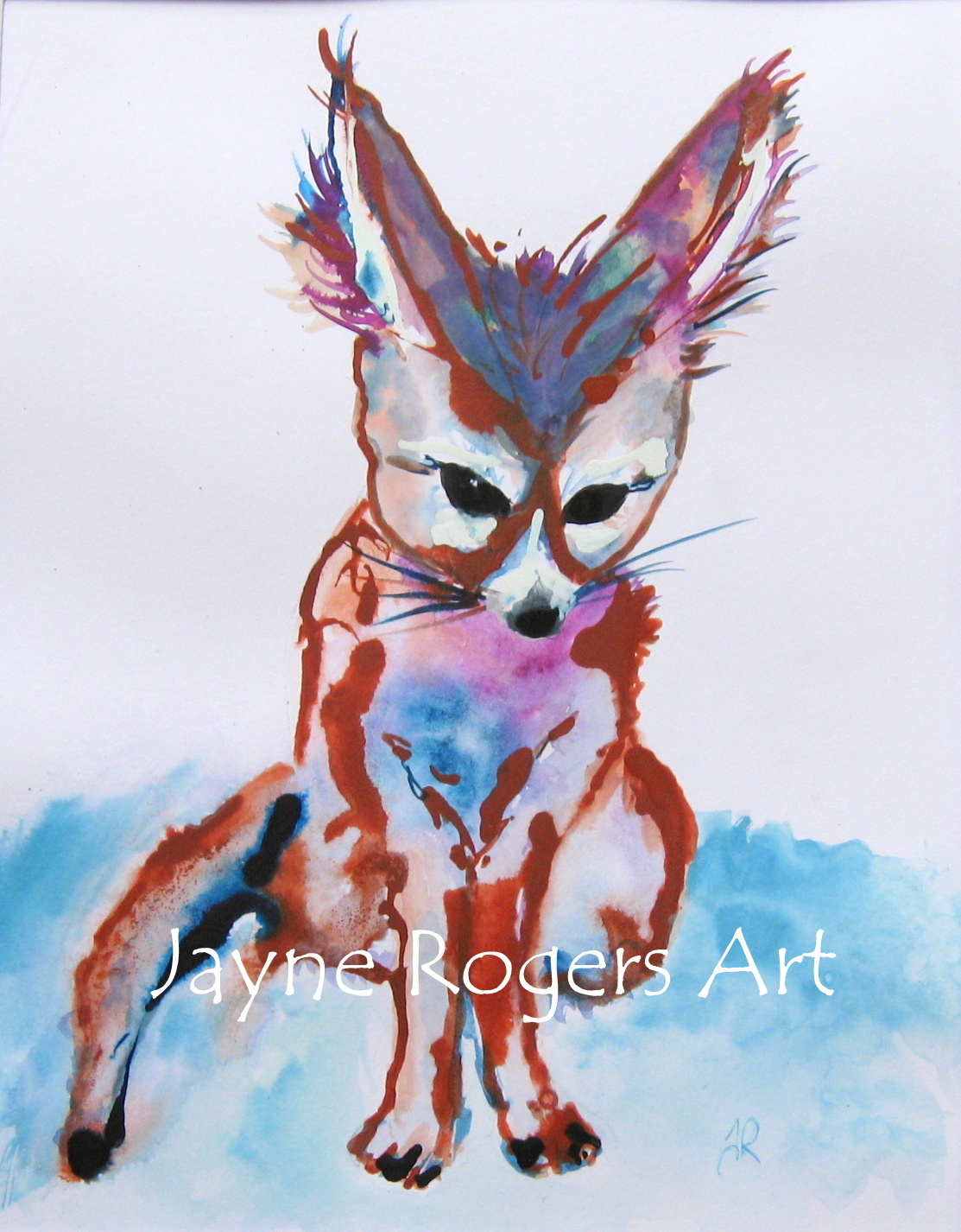 Fennec Fox Animal Painting.