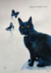 Black Cat Painting Commission.