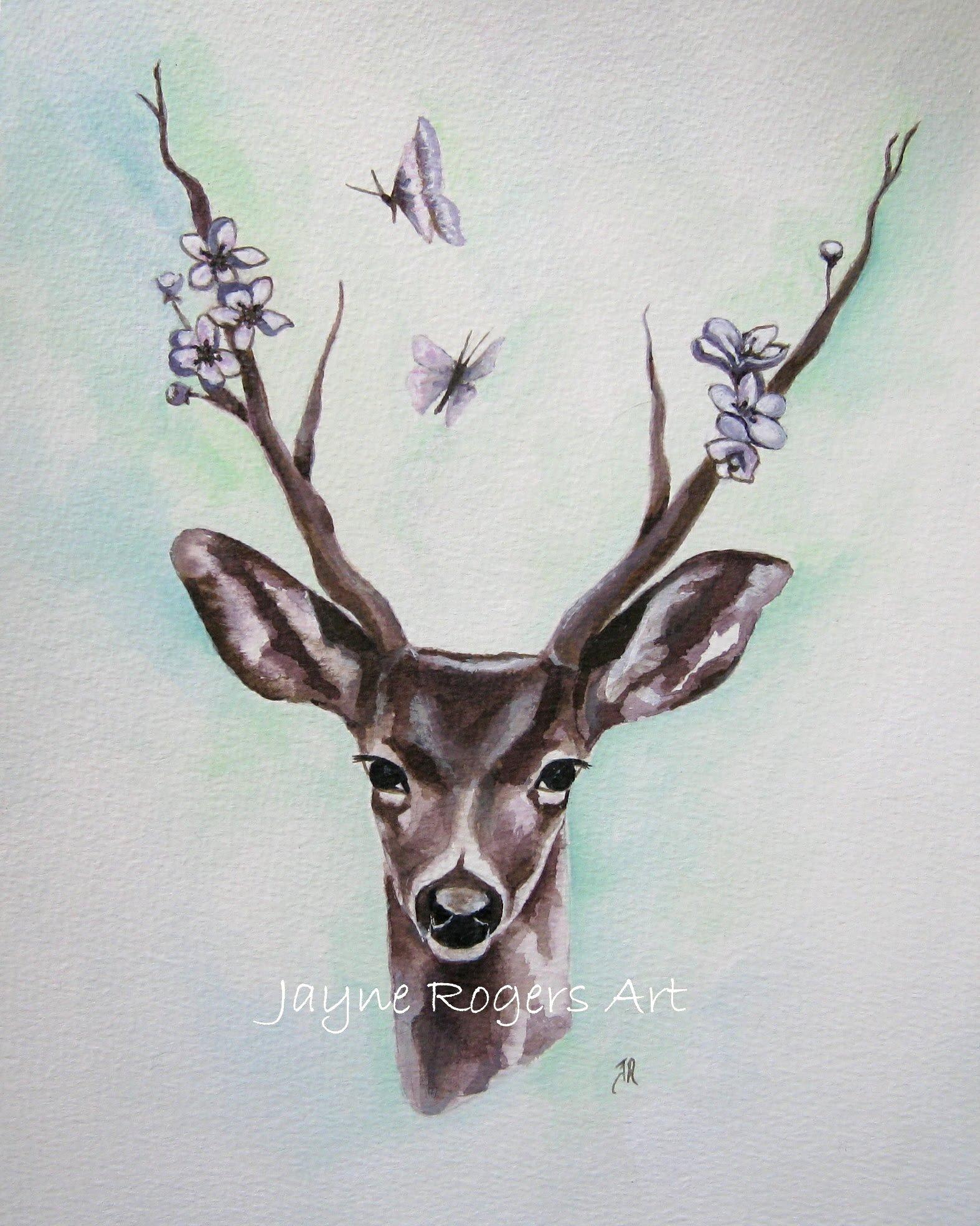Original Deer Art.