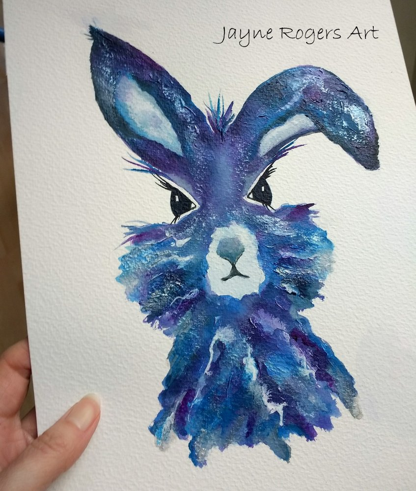 A Pearlescent Hare Painting.