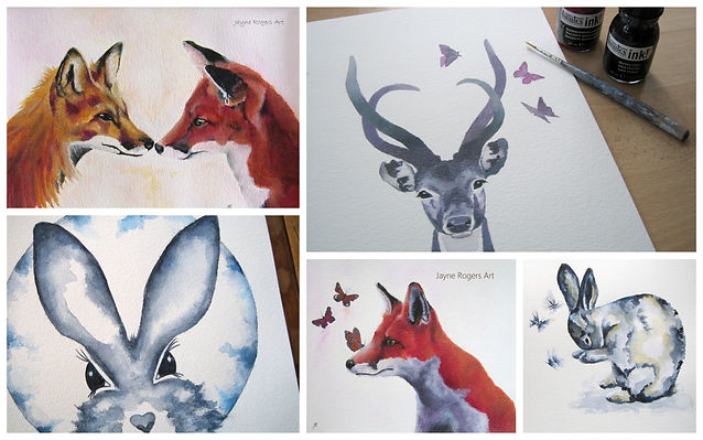 Animal Paintings by Jayn Rogers Art.