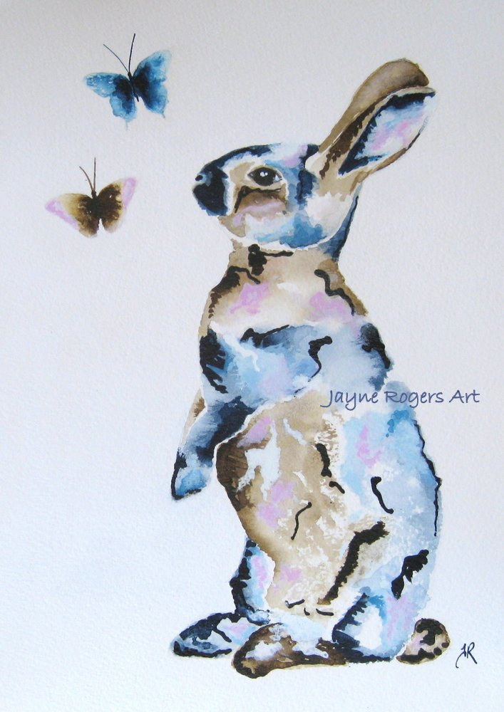 Patchwork Hare Painting.