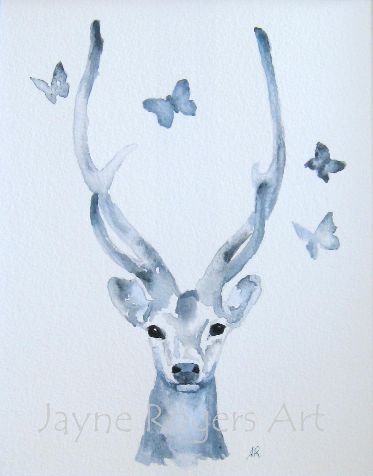 Grey Deer Art.