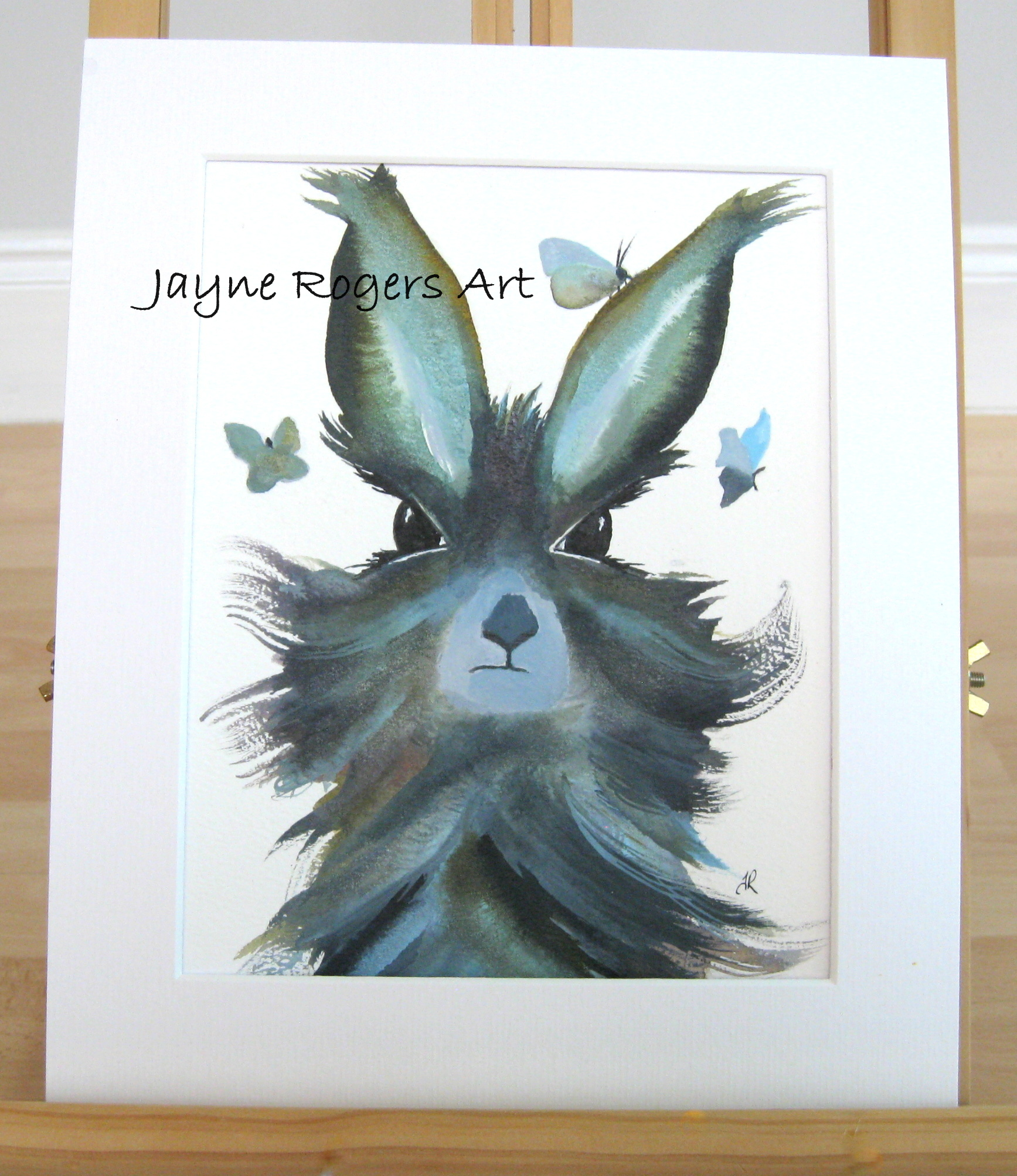 Hare Flutters Painting.