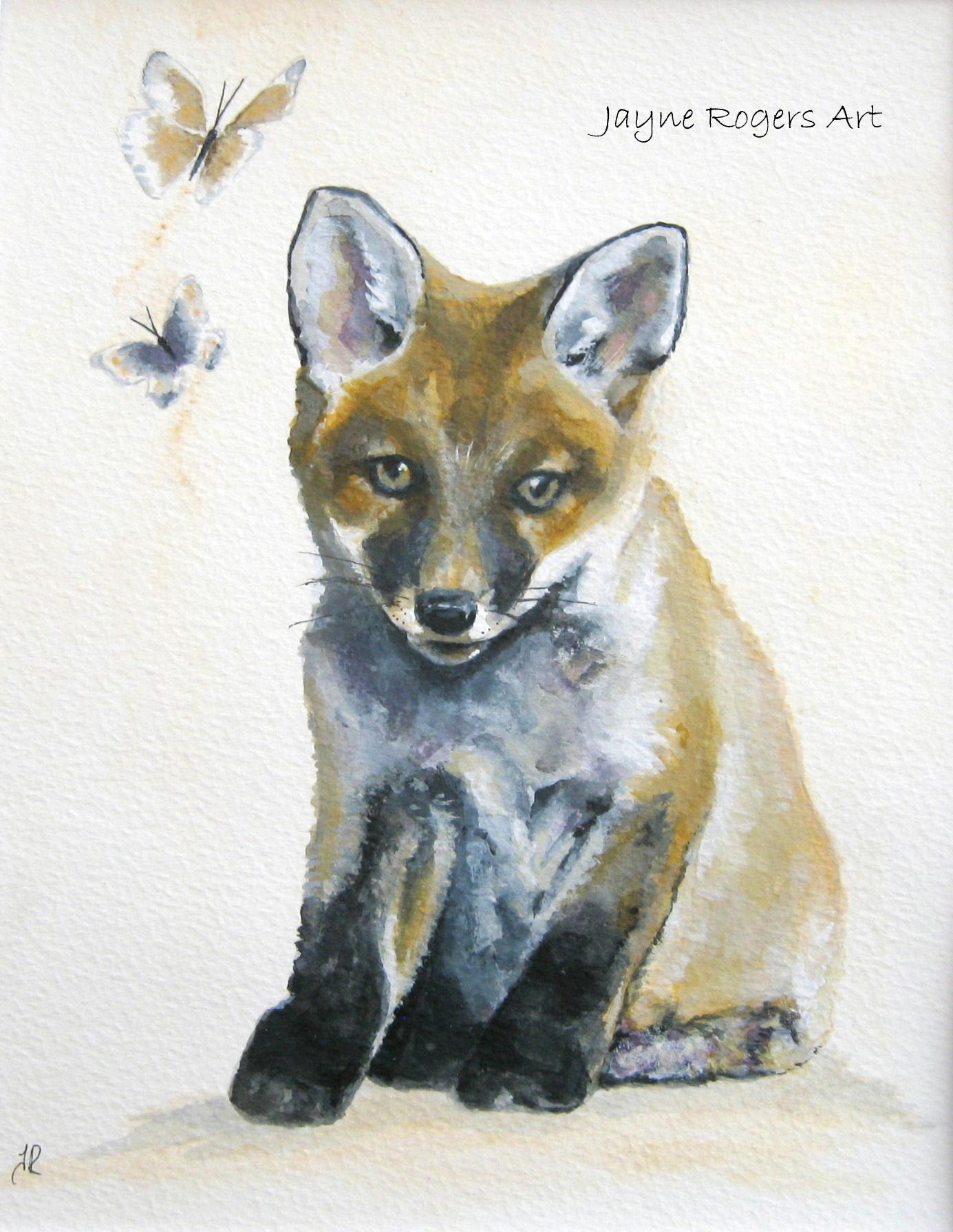 Fox cub painting.