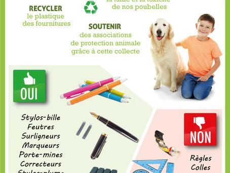 Affiche pour la collecte de fournitures dans un Collège