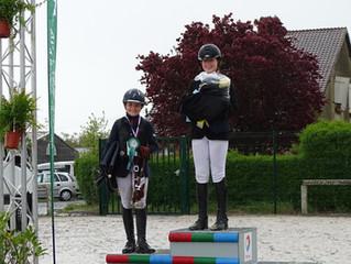 Vice-championne de Normandie et qualifiée avec ses deux poneys !
