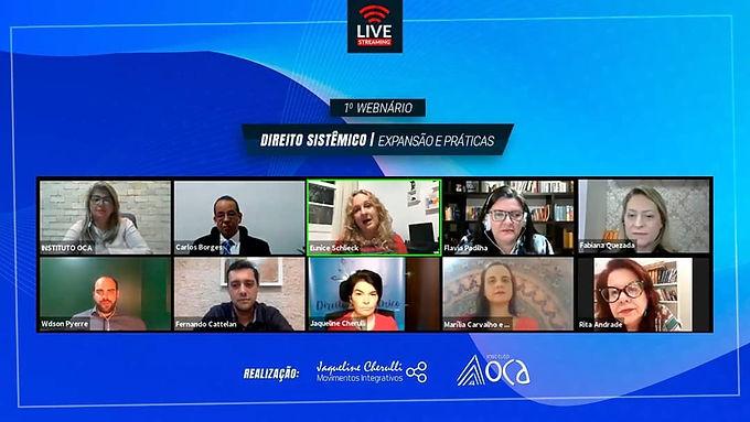 Webnário sobre Direito Sistêmico reúne mais de 10 especialistas na área.
