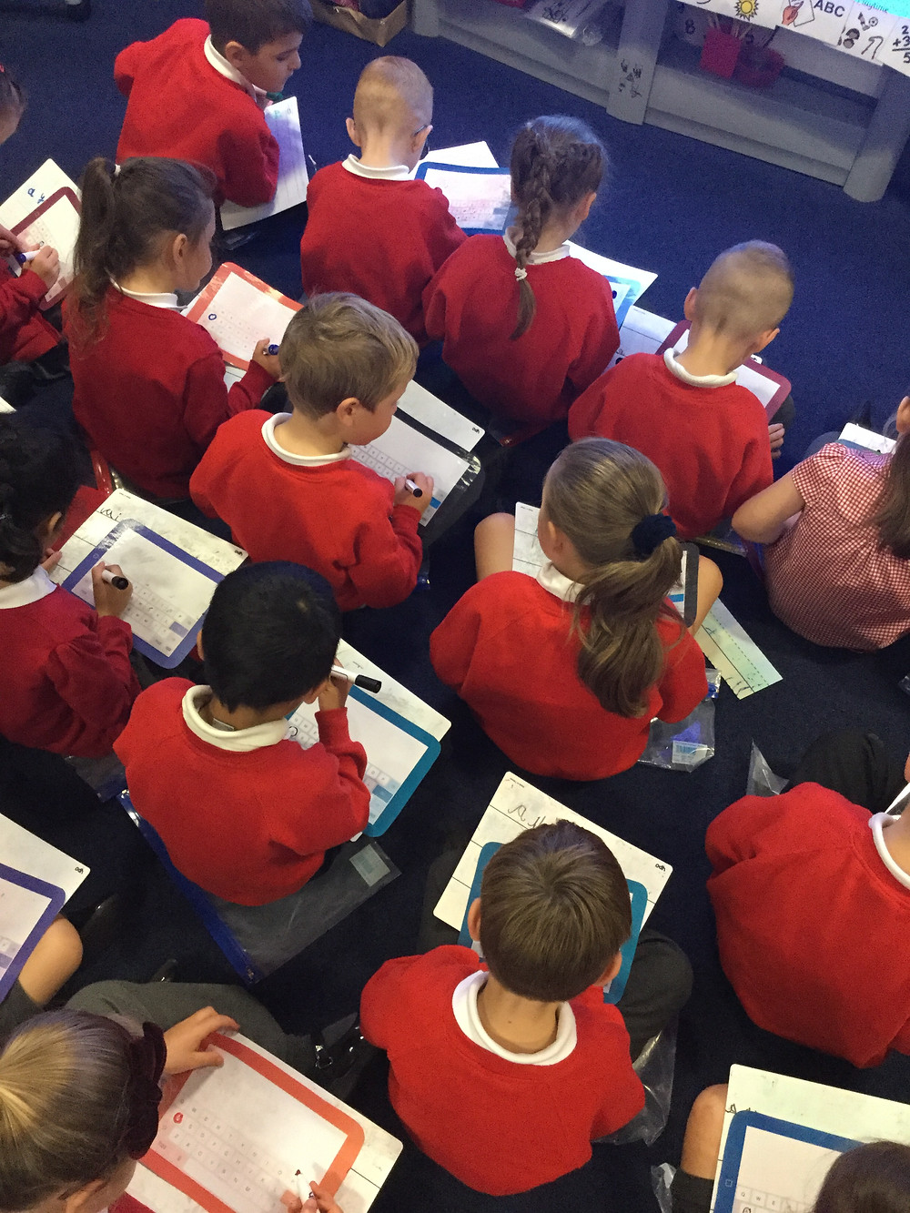 Year 1 enjoyed writing words during phonics on their Ipads.