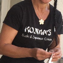 Women's Black V-neck T-shirt