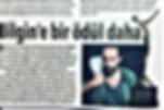 """Bursa'da yaşayan yönetmen Baturhan Bilgin, """"Moment"""" filmi ile """"Gold Movie Awards"""" film yarışmasında en iyi kurgu dalında ödüle layık bulundu. Bilgin,  11 Ocak 2018 tarihinde Londra """"Canada Water Center"""" kültür merkezinde yapılacak ödül töreninde ödülünü alacak."""