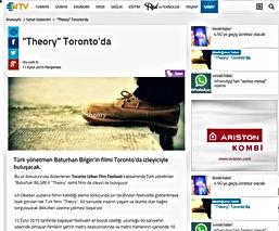 """Toronto Urban Film Festivali'nde Bir Türk Yönetmen!  Türk yönetmen Baturhan Bilgin'in filmi Toronto'da izleyiciyle buluşacak.  Bu yıl dokuzuncusu düzenlenenToronto Urban Film Festivalikapsamında Türk yönetmen """"Baturhan BİLGİN'in """"Theory"""" isimli filmi de izleyici ile buluşuyor.  43 Ülkeden yüzlerce filmin katıldığı eleme sonucunda juri tarafından festivalde gösterilmeye layık görülen tek Türk filmi """"Theory"""", 60 saniyede insanın yaşam ve ölümle olan bağını sorgulayarak dikkatleri üzerine çekmeyi başarıyor.  12 Eylül 2015 tarihinde başlayan festivalin en büyük özelliği, uzunluğu 60 saniyenin üzerinde olmayan filmlerin şehrin metro istasyonlarında ve metro trenlerinin içerisinde 10 gün boyunca halk ile buluşturulması. Ayrıca 12-20 Eylül 2015 tarihleri arasında internet üzerinde yapılan halk oylaması ile ödül kazanan filmler belli olacak."""