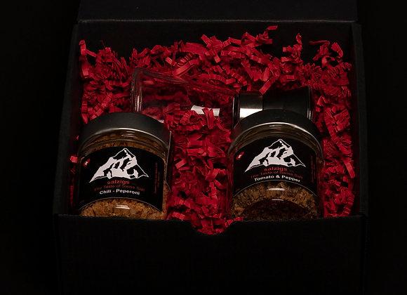 Geschenkbox 2 Salze & Salzmühle