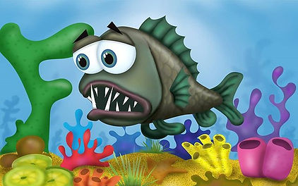Fangtooth fish for #animalalphabets #kid