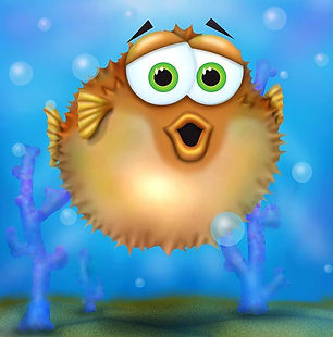 P is for pufferfish #animalalphab _anima