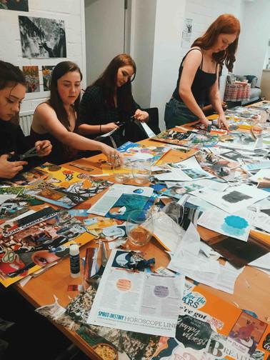 The Hempress Collective Weekender Collage Workshop