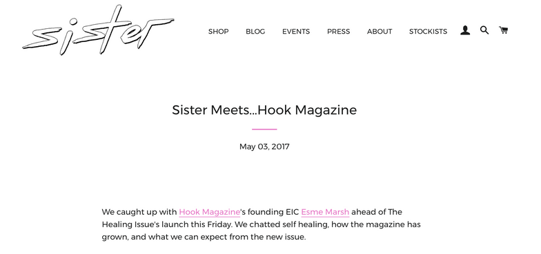 The Healing Issue with Sister Magazine