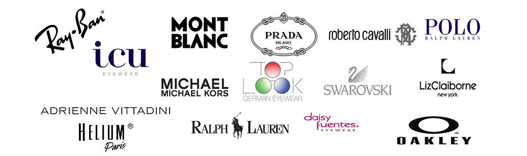Some of the brands we carry of eye glasses