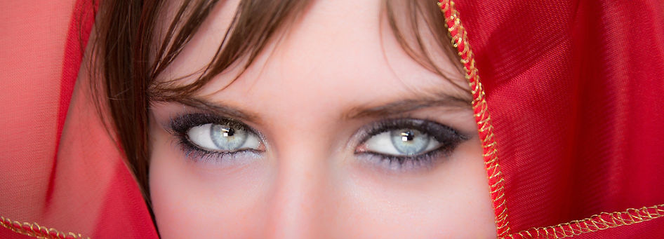 Eyes this beautiful should not be hidden by bifocals.  Agree?  Bifocal contacts much better!