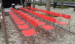長型戶外摺椅(白/紅/黑)