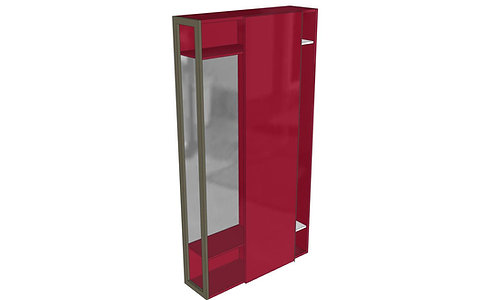 Porta abiti - specchiera L120 H228,5 P35 SCORREVOLE - Serie SK