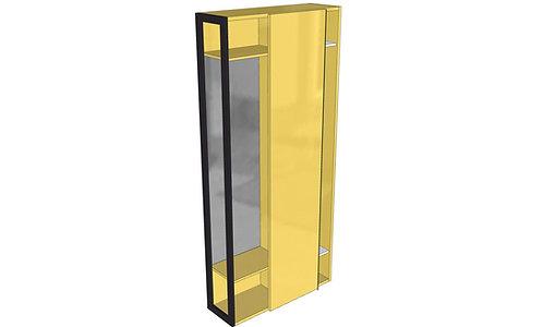 Porta abiti - specchiera L105 H228,5 P35 SCORREVOLE - Serie SK