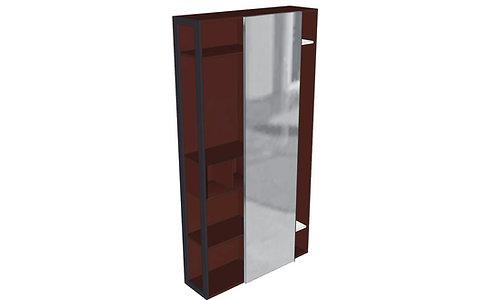 Porta abiti - multipiani L120 H228,5 P35 SCORREVOLE - Serie SK