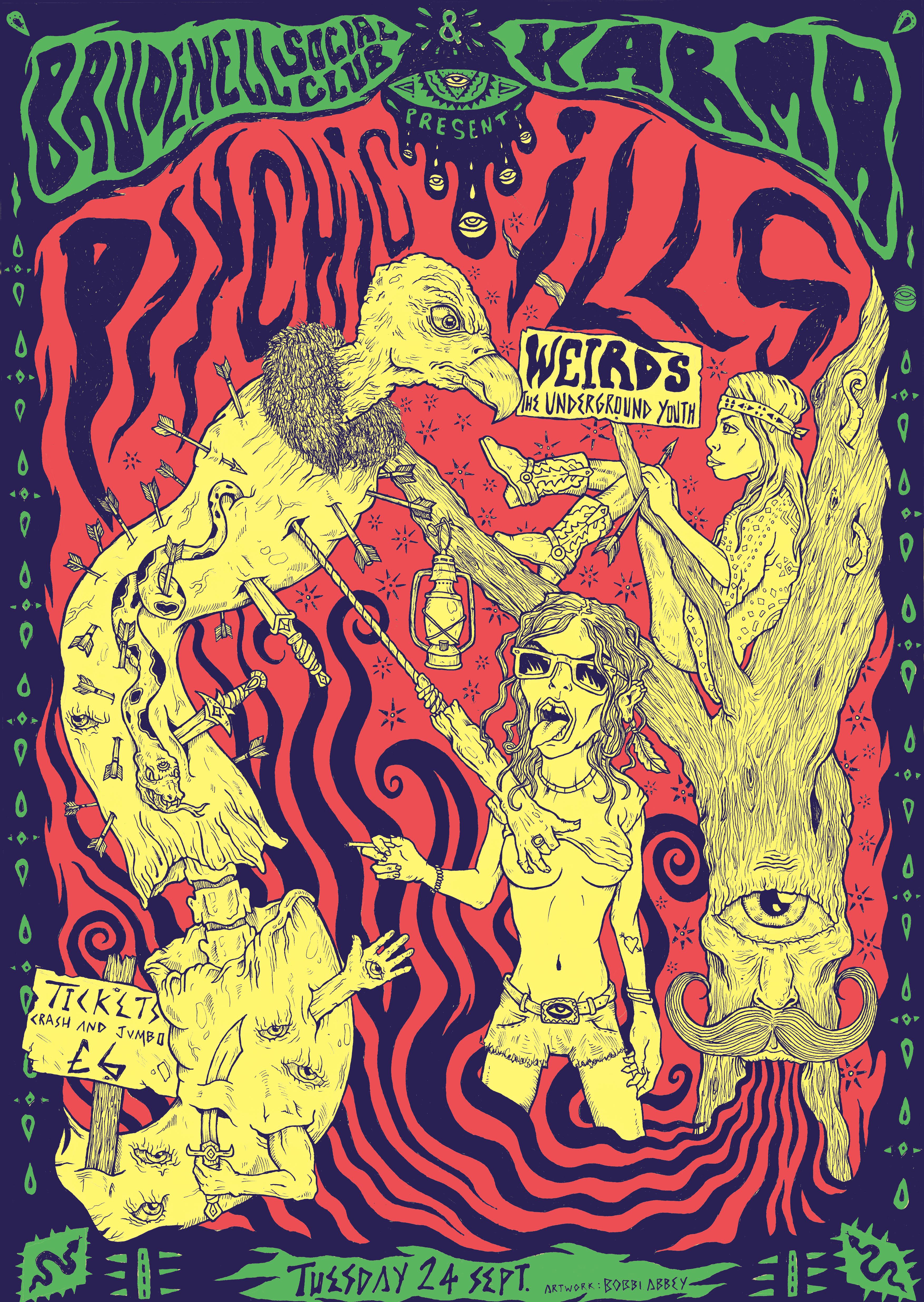 PSYCHIC ILLS poster