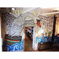 Swan Mural for Urban Outfitters york