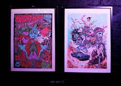 Framed work at Pyre Climber show