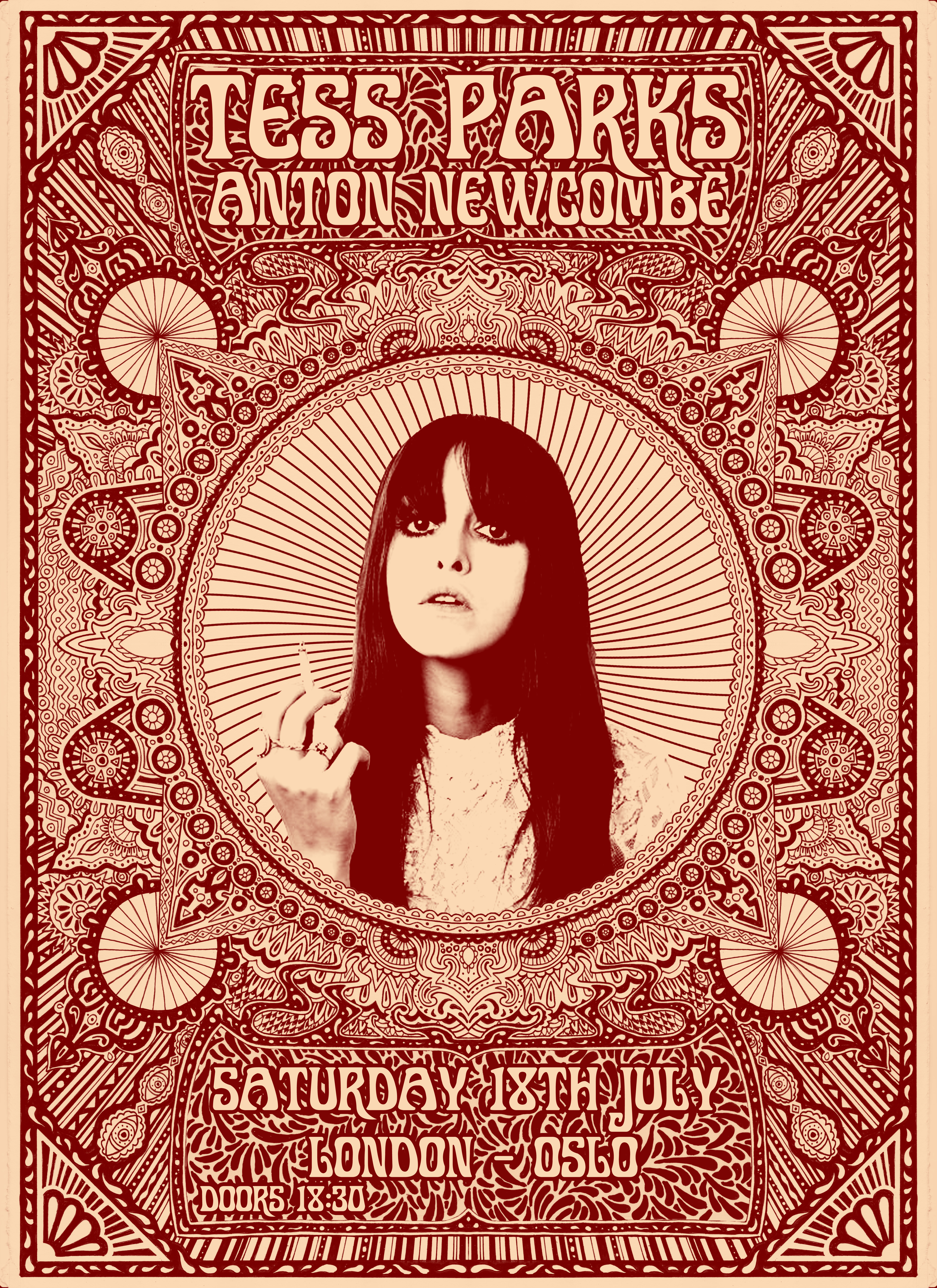 tess parks and anton newcombe poster