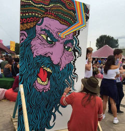 mural done at garden party 2015