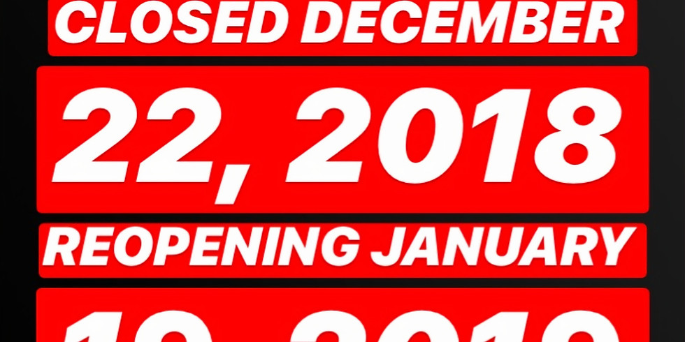 1PROJECTS REOPENING JANUARY 19, 2019