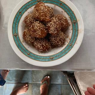 Healthy honey on greek donuts2.JPG