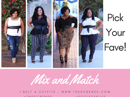 Mix and Match! 1 Belt 4 Outfits