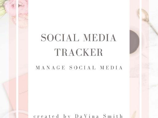 Glam Marketing's Social Media Tracker