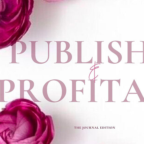 Published & Profitable: Journal Edition Webinar