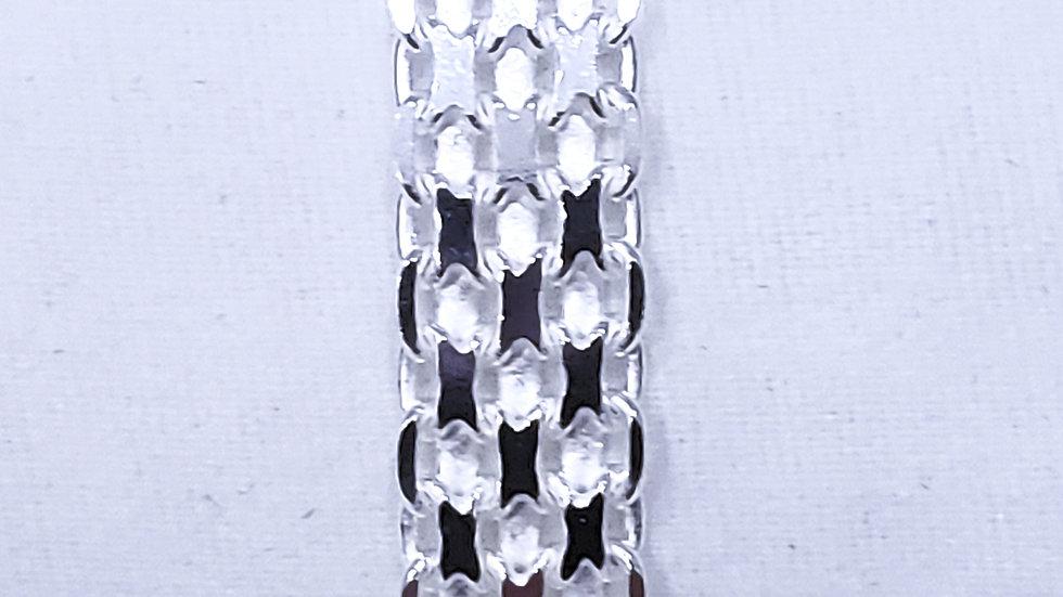 Italian Sterling Silver multi-row bracelet (8 inch) 14.4 grams