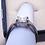 Thumbnail: Strontium Titanate & Zircon engagement/promise ring in rhodium over 925 sz 8